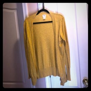 Yellow sweater with buttons
